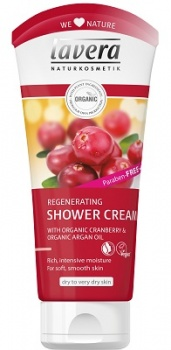 Lavera Regenerating Shower Gel with Cranberry and Argan Oil