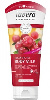 Lavera Regenerating Body Milk with Cranberry and Argan Oil