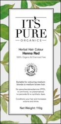 It's Pure Organics Herbal Hair Colour Henna Red