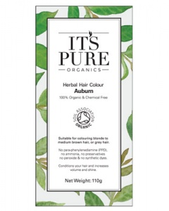 It's Pure Organics Herbal Hair Colour Auburn